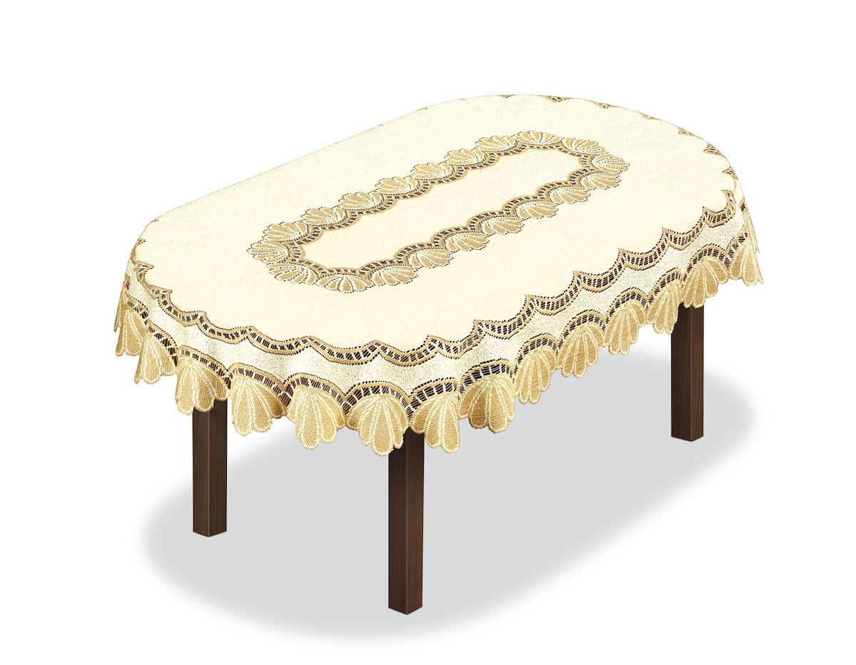 Скатерть Haft, овальная, цвет: кремовый, золотистый, 300 x 145 см. 204851 скатерть haft овальная цвет кремовый золотистый 145 x 95 см 226561