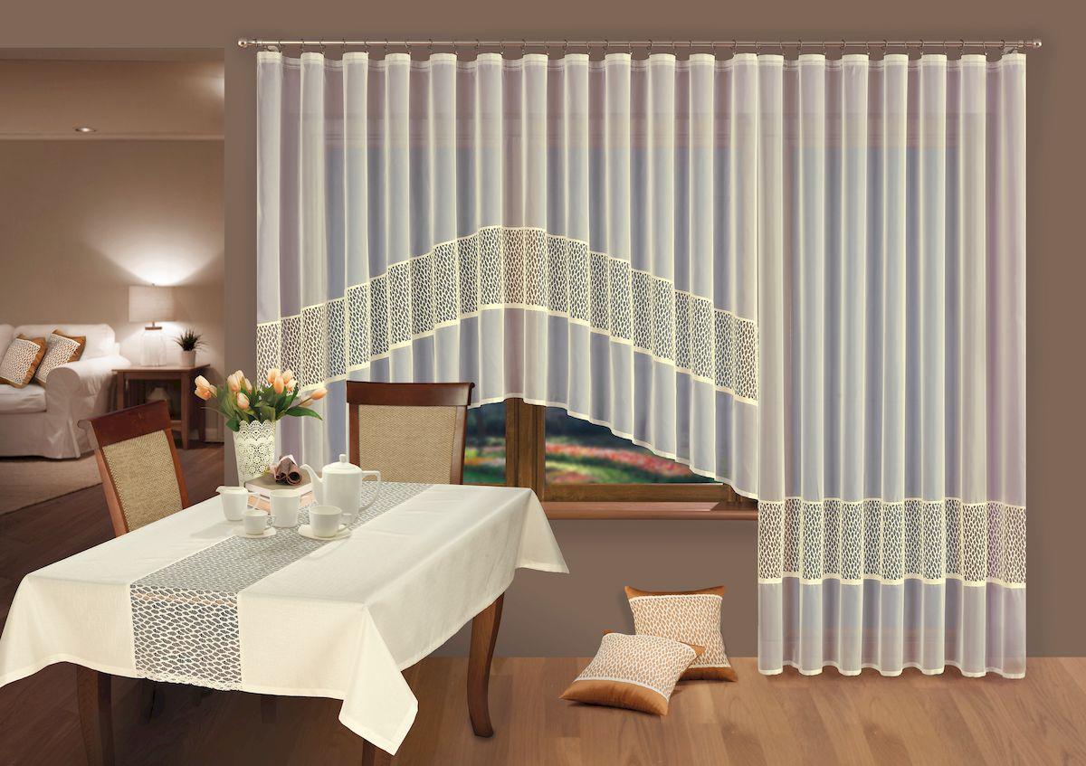 Комплект штор Wisan, цвет: кремовый, высота 170 см, 250 см. 220Х комплект штор wisan цвет коричневый высота 250 см 030w