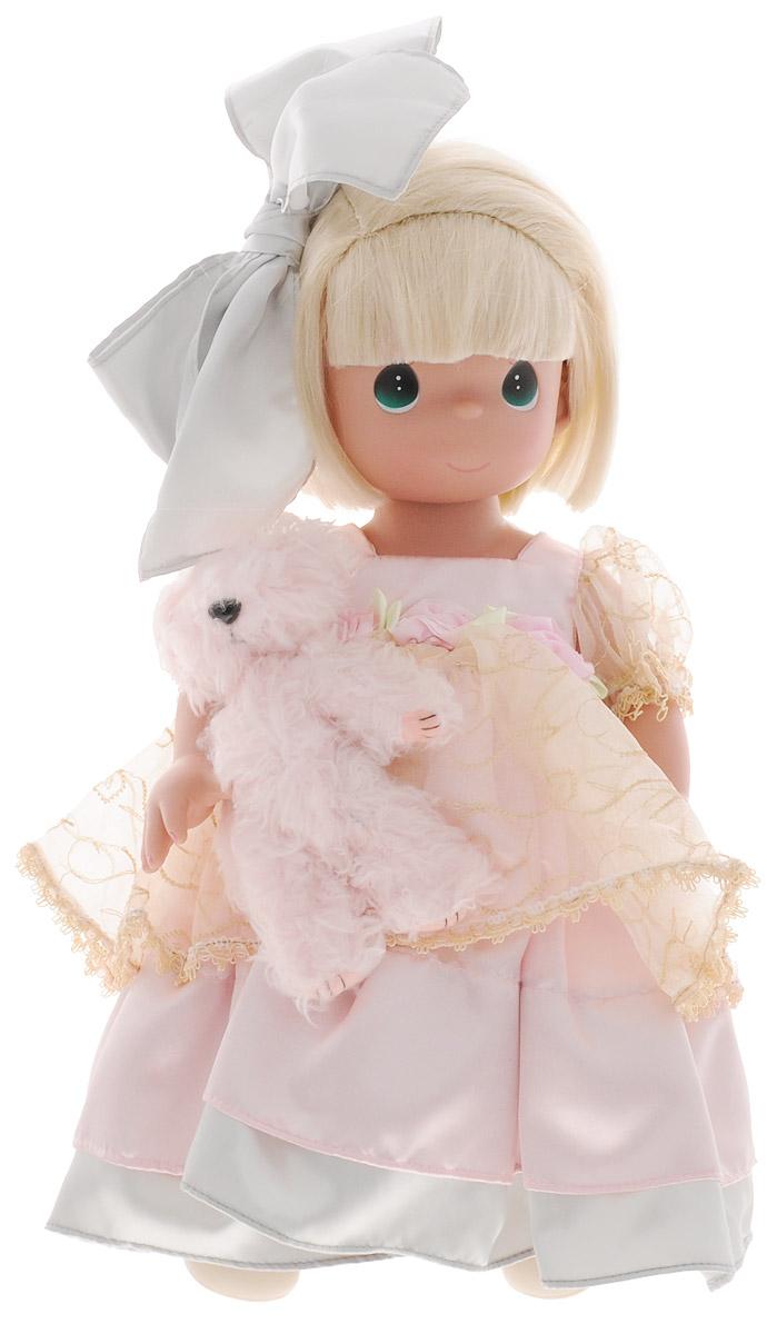 куклы и одежда для кукол precious кукла мир и гармония 30 см Precious Moments Кукла в кружевах с питомцем