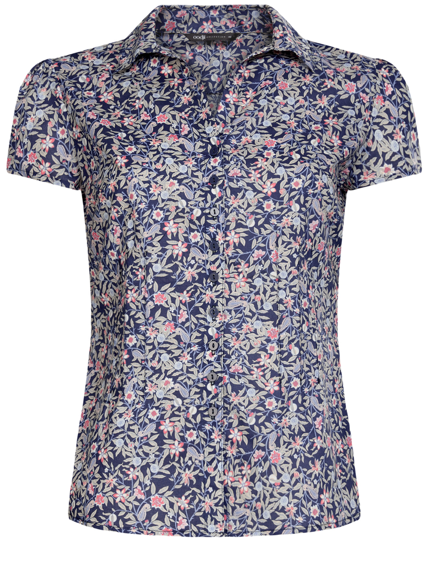Блузка oodji приталенная блузка с принтом john richmond page 12