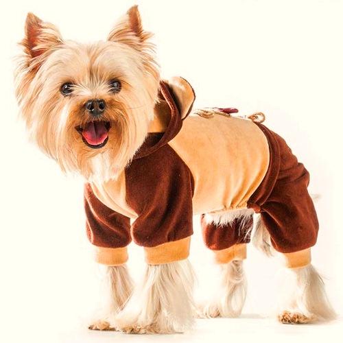 Комбинезон для собак Dogmoda Мишка, унисекс, цвет: коричневый, бежевый. Размер 4 (XL) комбинезон для собак dogmoda грин унисекс цвет зеленый синий белый размер 4 xl