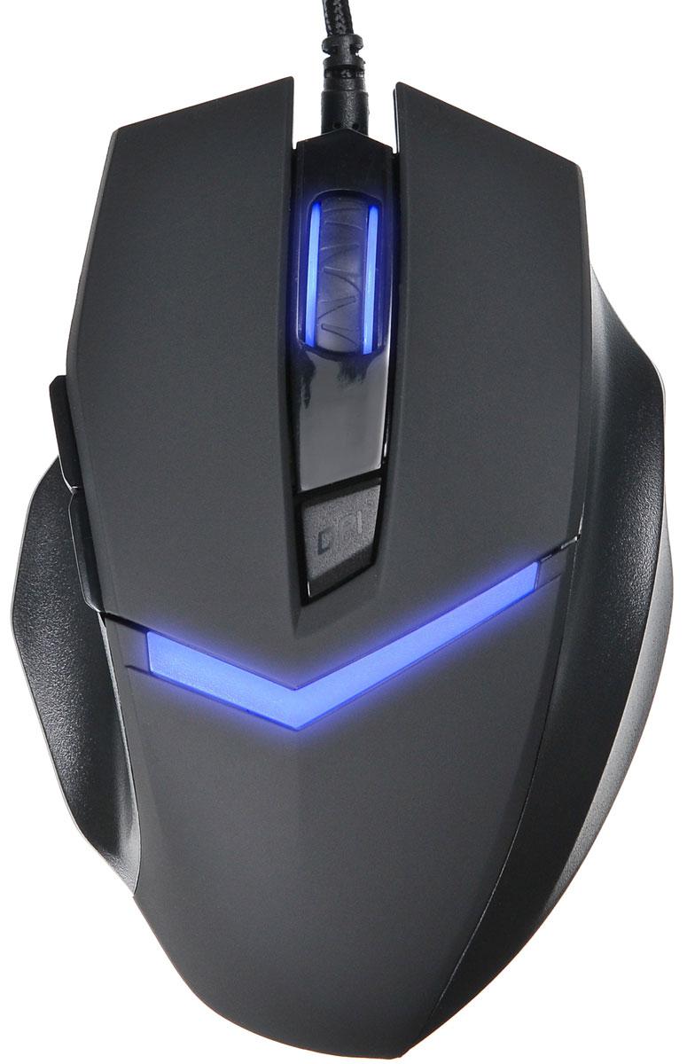 Мышь Oklick 825G, Black игровая мышь oklick 185m black