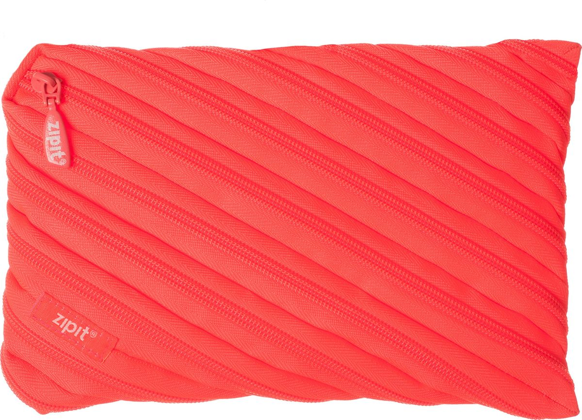 Zipit Пенал Neon Jumbo Pouch цвет коралловый zipit пенал сумочка colors pouch цвет мульти полоски