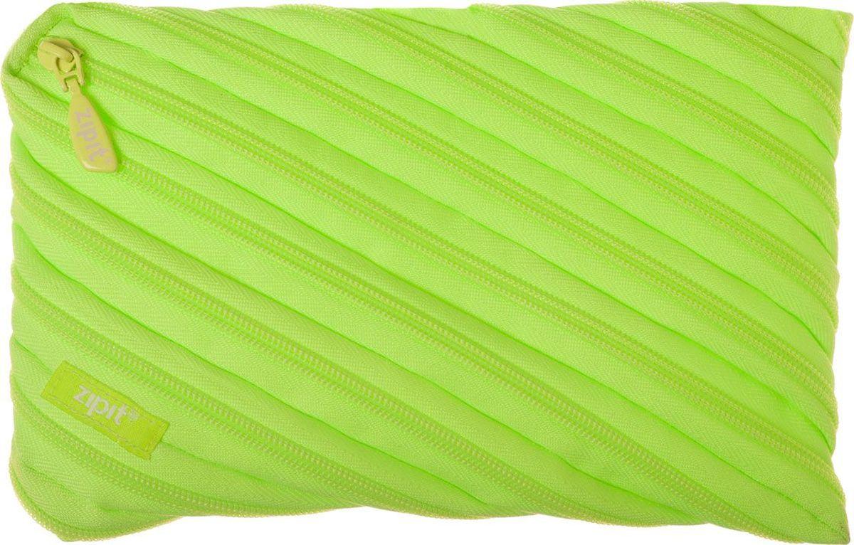 Zipit Пенал Neon Jumbo Pouch цвет лайм zipit пенал сумочка colors pouch цвет мульти полоски