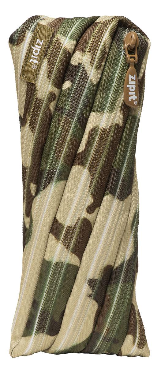 пеналы zipit пенал colorz box Zipit Пенал Camo Pouch цвет зеленый коричневый