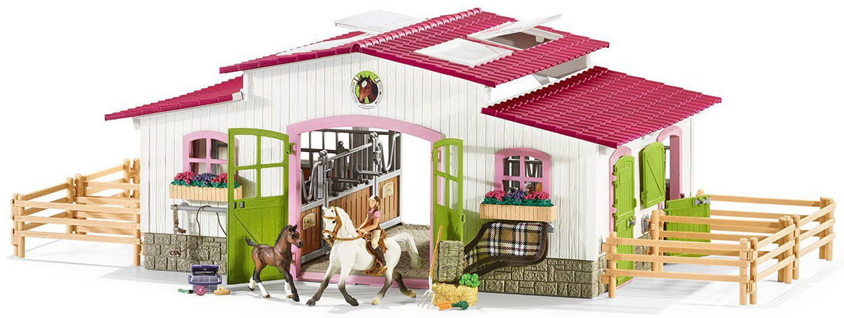 Schleich Игровой набор Центр верховой езды с лошадьми игровые наборы schleich принадлежности по уходу за лошадьми