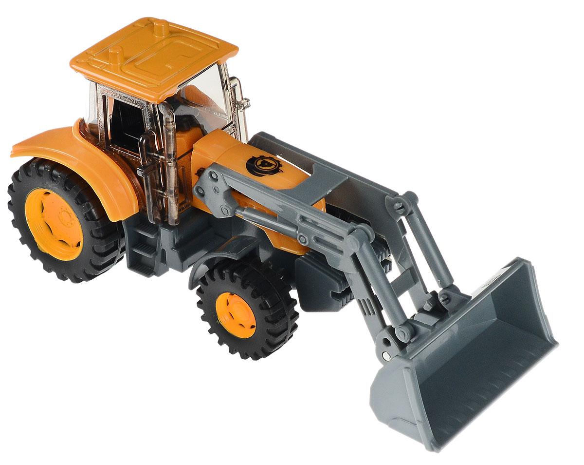 Технопарк Экскаватор ГорстройU1401A-5Экскаватор ТехноПарк, выполненный из пластика и металла, станет любимой игрушкой вашего малыша. Игрушка представляет собой модель экскаватора с подвижным поднимающимся ковшом. Машинка имеет большие колеса, как у трактора, которые позволяют ему ездить по любой поверхности, в том числе и по песку. Его смело можно брать во двор или на пляж.Ваш ребенок будет увлеченно играть с этой машинкой, придумывая различные истории. Порадуйте его таким замечательным подарком!