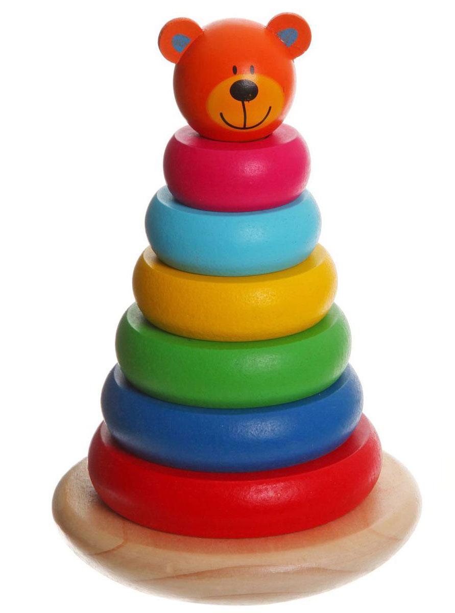 Bondibon Пирамидка Медвежонок развивающие игрушки gowi ведерко пирамидка 21 предмет