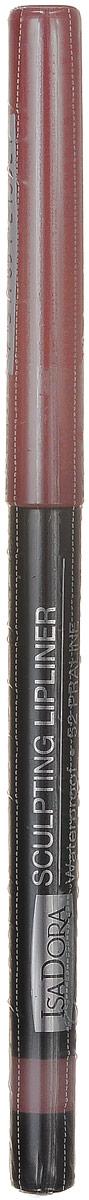 Isadora карандаш для губ водостойкий Sculpting lipliner waterproof 52 3 гр