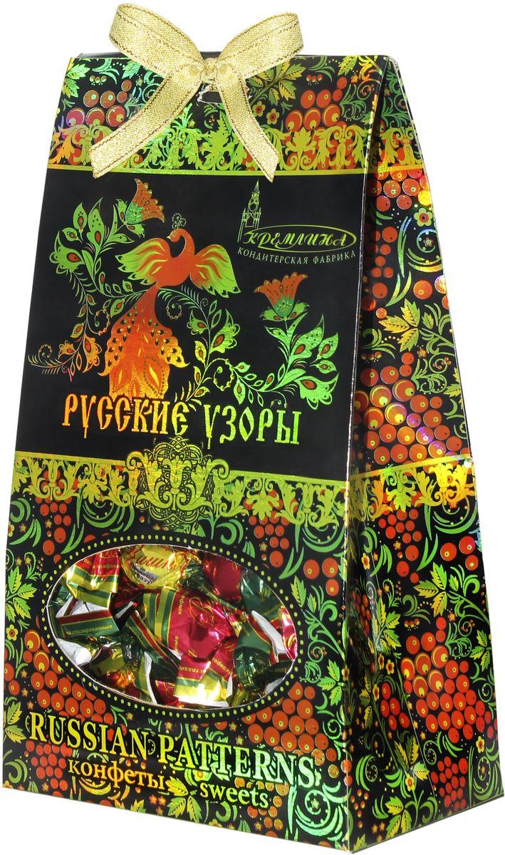 Кремлина Русские узоры вишня в шоколадной глазури, 230 г кремлина зимние катания конфеты вишня в шоколадной глазури в футляре для очков 40 г
