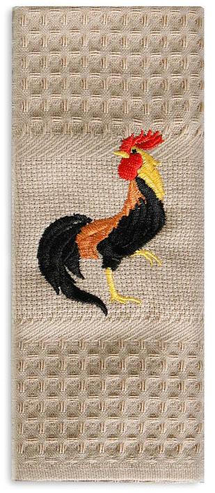 Полотенце кухонное Soavita Петухи. Блек, цвет: бежевый, 40 х 60 см. 89512 полотенце кухонное soavita паприка 40 х 60 см