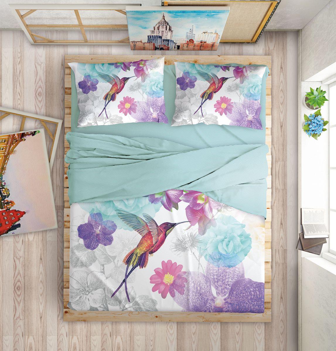 Комплект белья Love Me Fairytale, евро, наволочки 50х70, 70х70, цвет: голубой, фиолетовый198975Международный бренд для молодых, современных, стильных. Love Me - бренд качественного постельного белья, для молодых людей, создающий ощущение комфорта, защищенности и уюта. При этом - модный, современный, стильный. Упаковка выполнена в оригинальном стиле - имитирует модель сумки Furla.