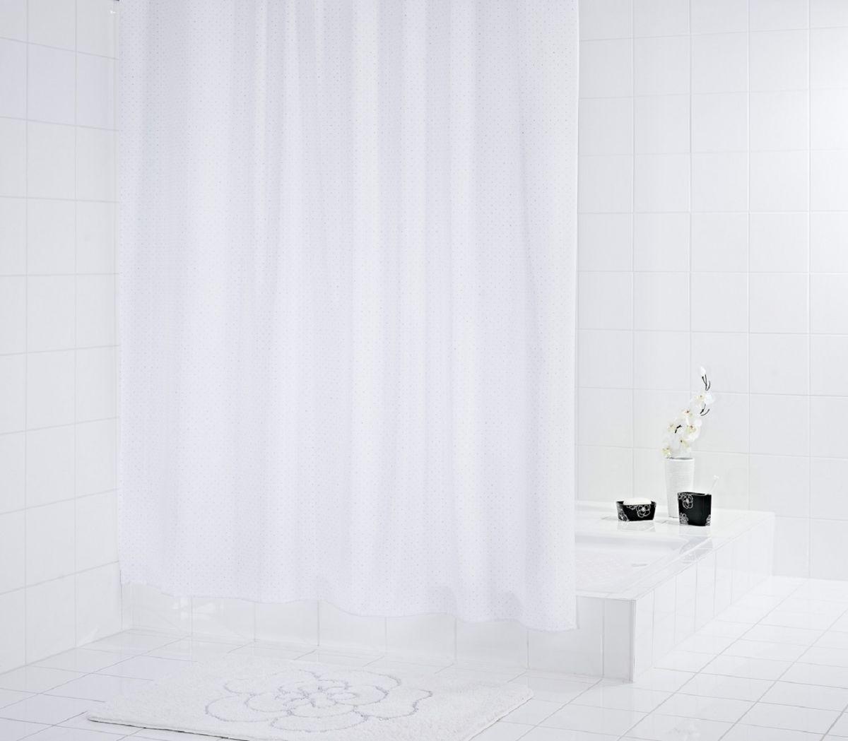 Штора для ванной комнаты Ridder Diamond, цвет: белый , 180 х 200 см штора для ванной комнаты ridder helgoland цвет синий голубой 240 х 180 см