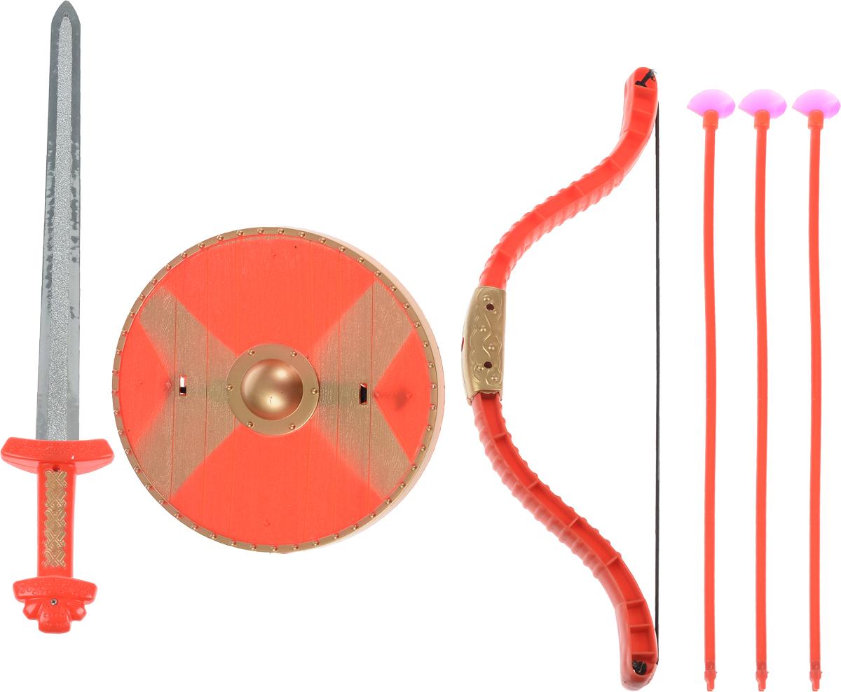 Играем вместе Набор оружия Три богатыря 6 предметов лук со стрелами три богатыря