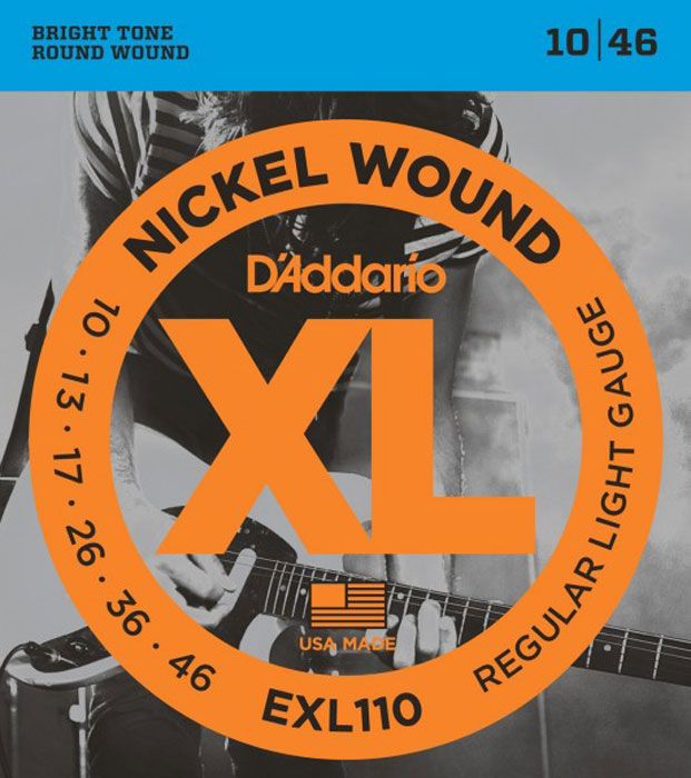 Фото - D'Addario EXL110 струны для электрической гитары степные струны