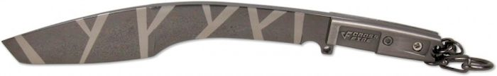 Брелок-стальной нож Ножемир Мачете. Камуфляж, общая длина 16,2 см. E-203