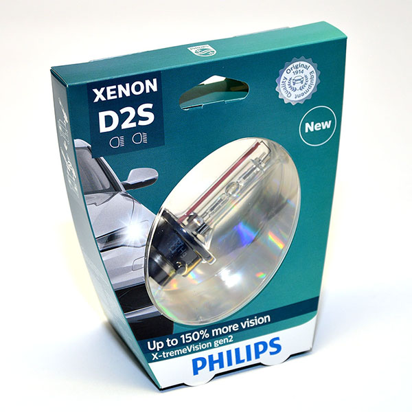 Лампа автомобильная ксеноновая Philips X-tremeVision gen2, цоколь D2S, 35 Вт