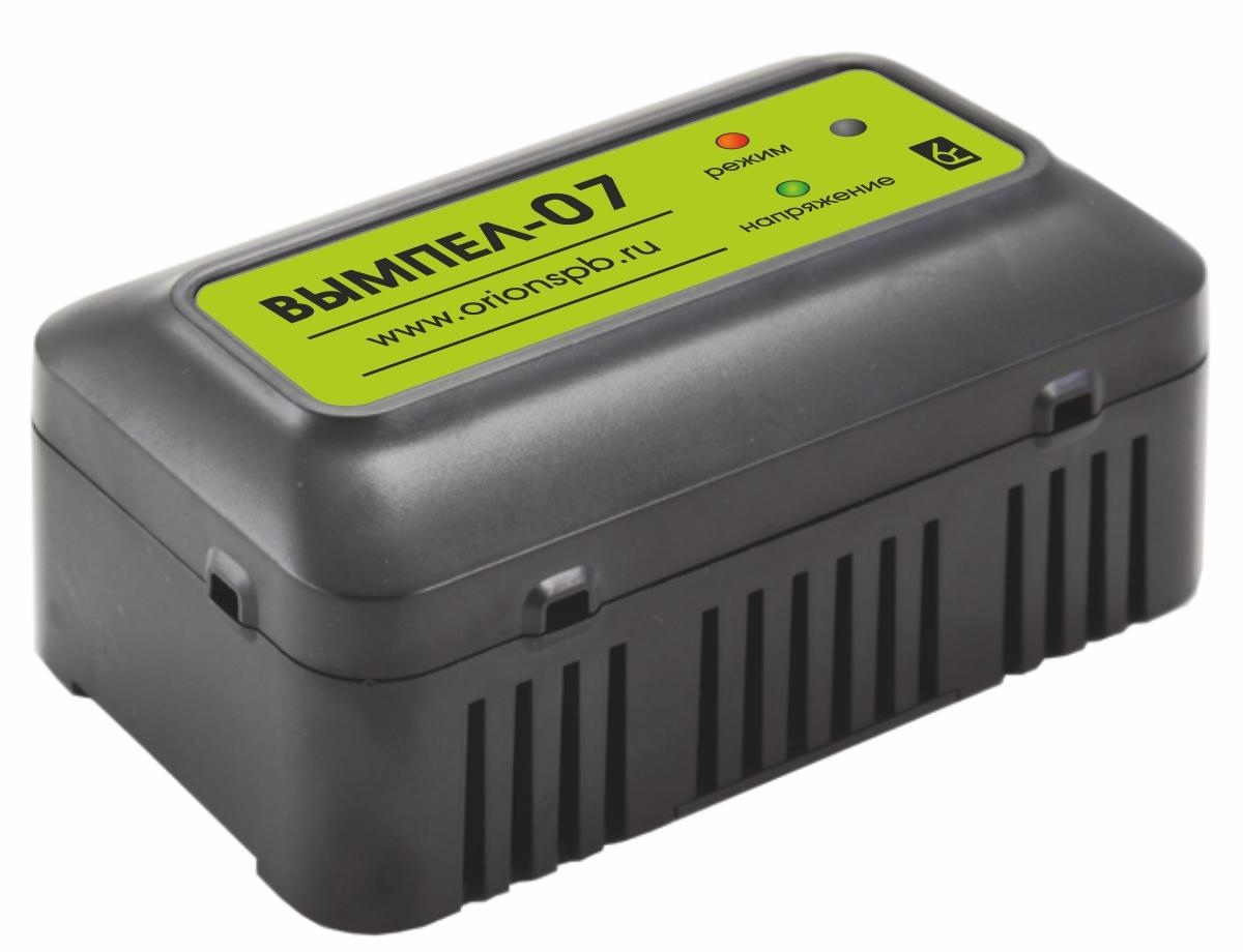 Зарядное устройство Вымпел-07, автомат, для гелевых и кислотных АКБ, 1,2А, 12В