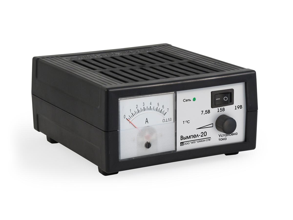 Зарядное устройство Вымпел-20, автомат, стрелочный амперметр, 0-7А, 6/12/18В зарядное устройство вымпел 57 автомат сегментный жк индикатор 0 20а 7 4 18в