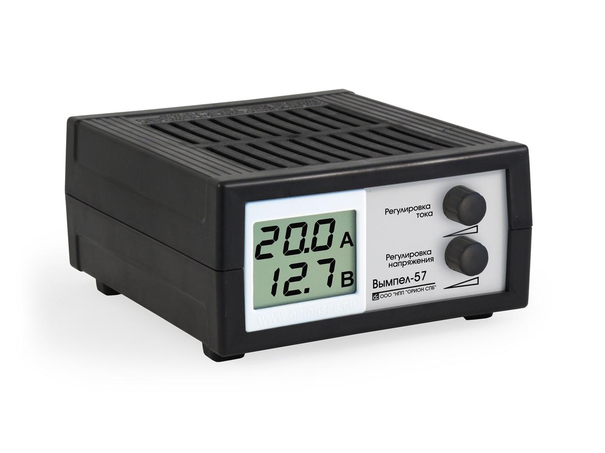Зарядное устройство Вымпел-57, автомат, сегментный ЖК индикатор, 0-20А, 7,4-18В зарядное устройство вымпел 57 автомат сегментный жк индикатор 0 20а 7 4 18в