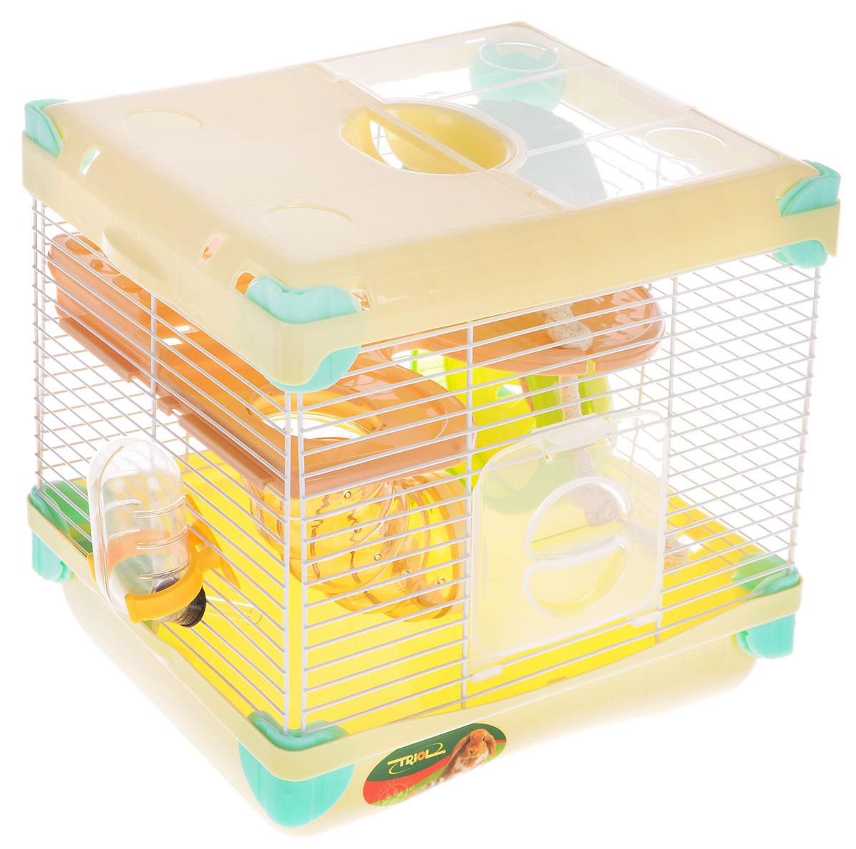 цена на Клетка для грызунов Triol Парк Приключений, 27,5 x 20,5 x 25 см