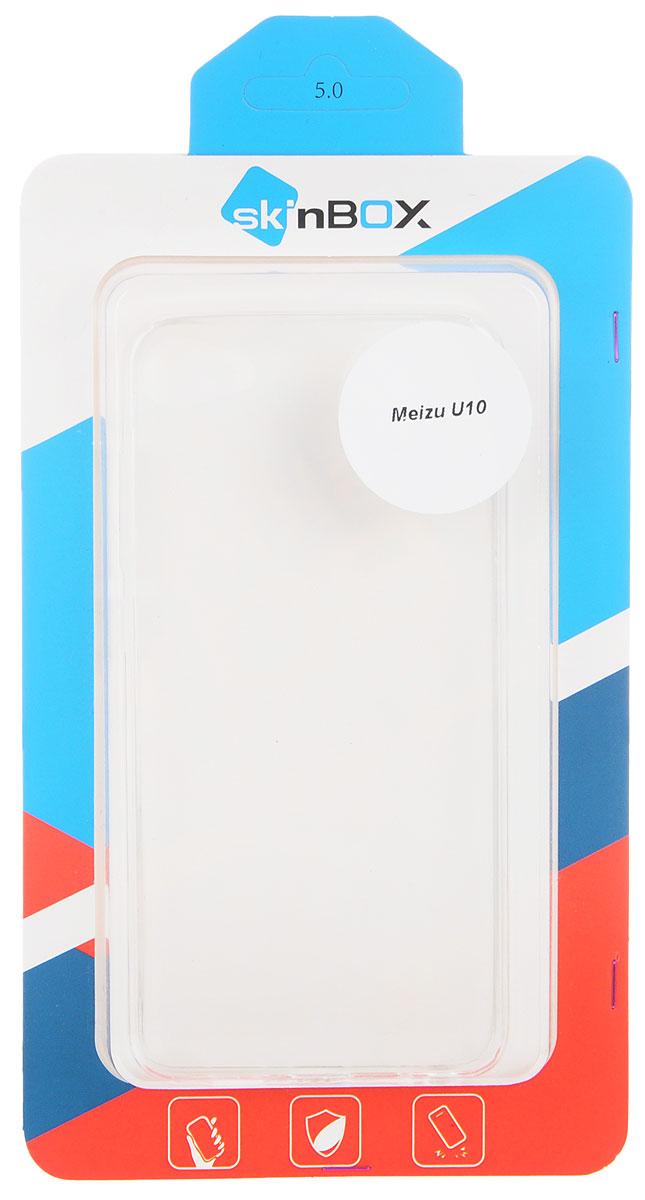 Skinbox Slim Silicone чехол для Meizu U10, Transparent чехол для meizu u10 gecko flip красный