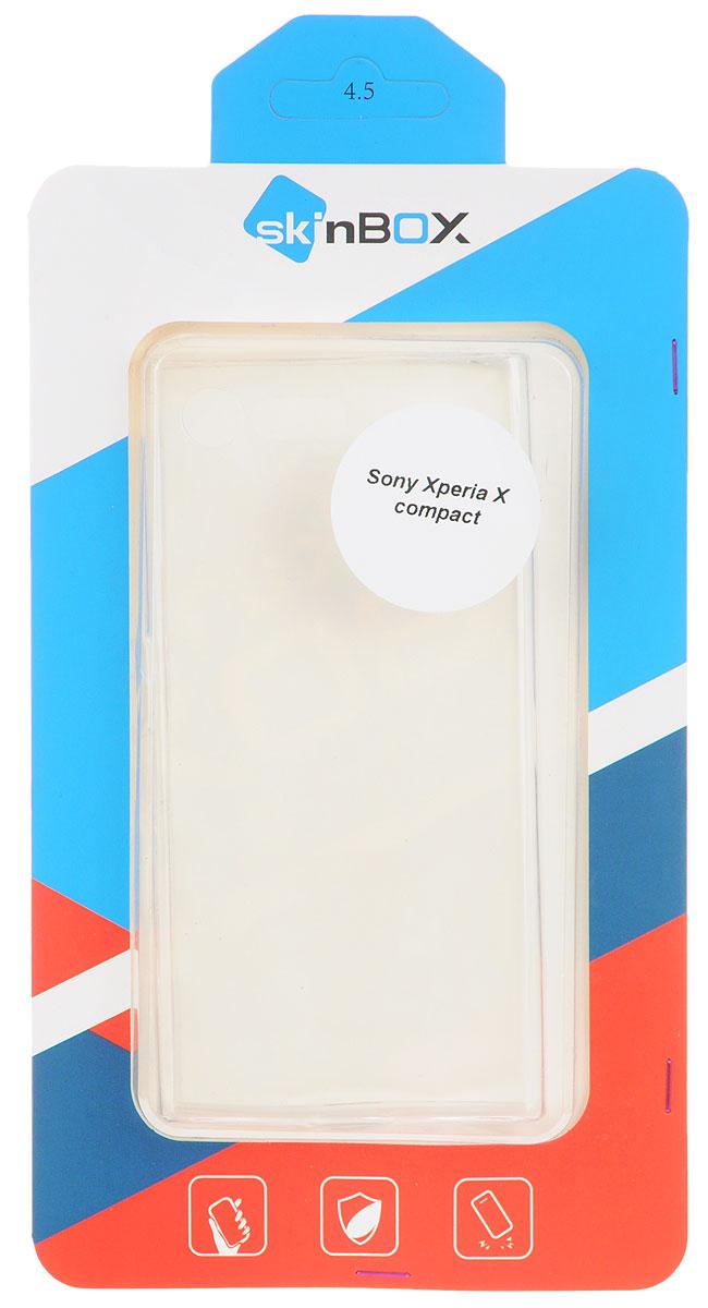 Skinbox Slim Silicone чехол для Sony Xperia X Compact, Transparent цена и фото