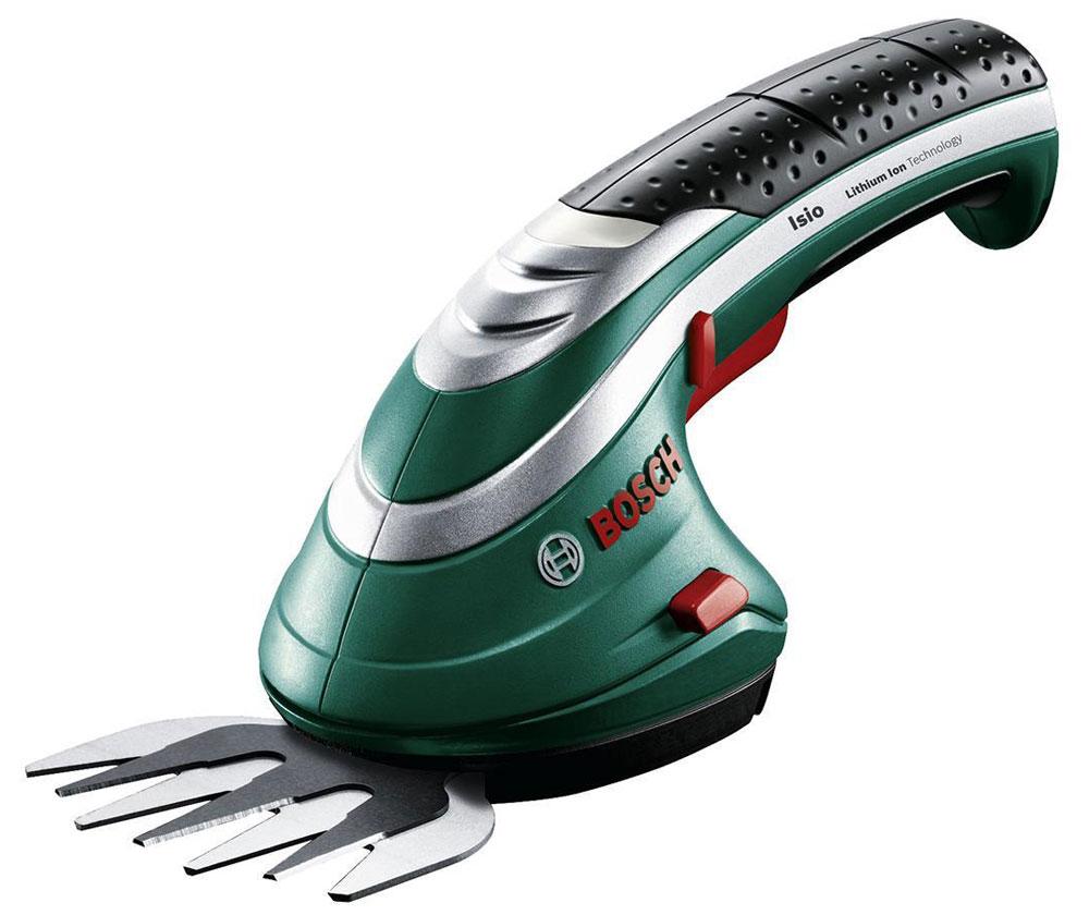 Аккумуляторные ножницы для травы Bosch ISIO 3 + штанга 0600833105 аккумуляторные ножницы bosch isio 3 для травы и кустов перчатки laura ashley 060083310m