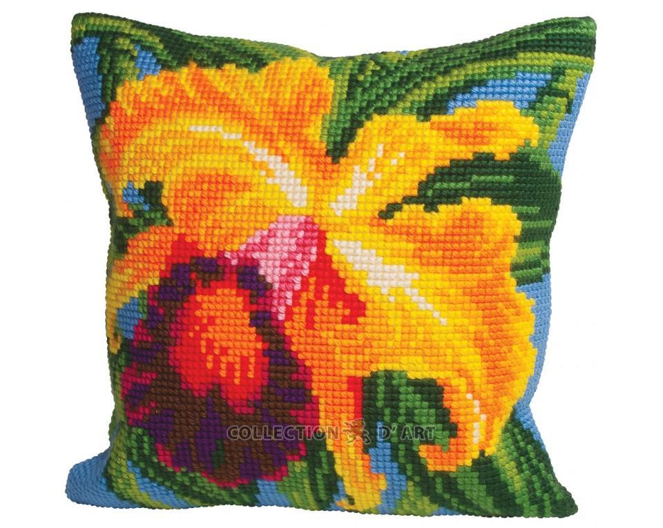 Набор для вышивания подушки Collection D'Art, 40 х 40 см. 5008 набор для вышивания подушки collection d art 40 х 40 см 5 193