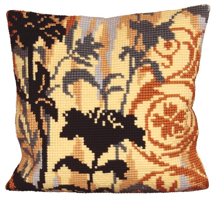 Набор для вышивания подушки Collection D'Art, 40 х 40 см. 5017 набор для вышивания подушки collection d art 40 х 40 см 5 193