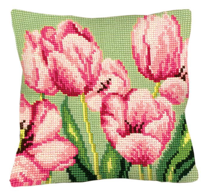 Набор для вышивания подушки Collection D'Art, 40 х 40 см. 5.070 набор для вышивания подушки collection d art 40 х 40 см 5 193