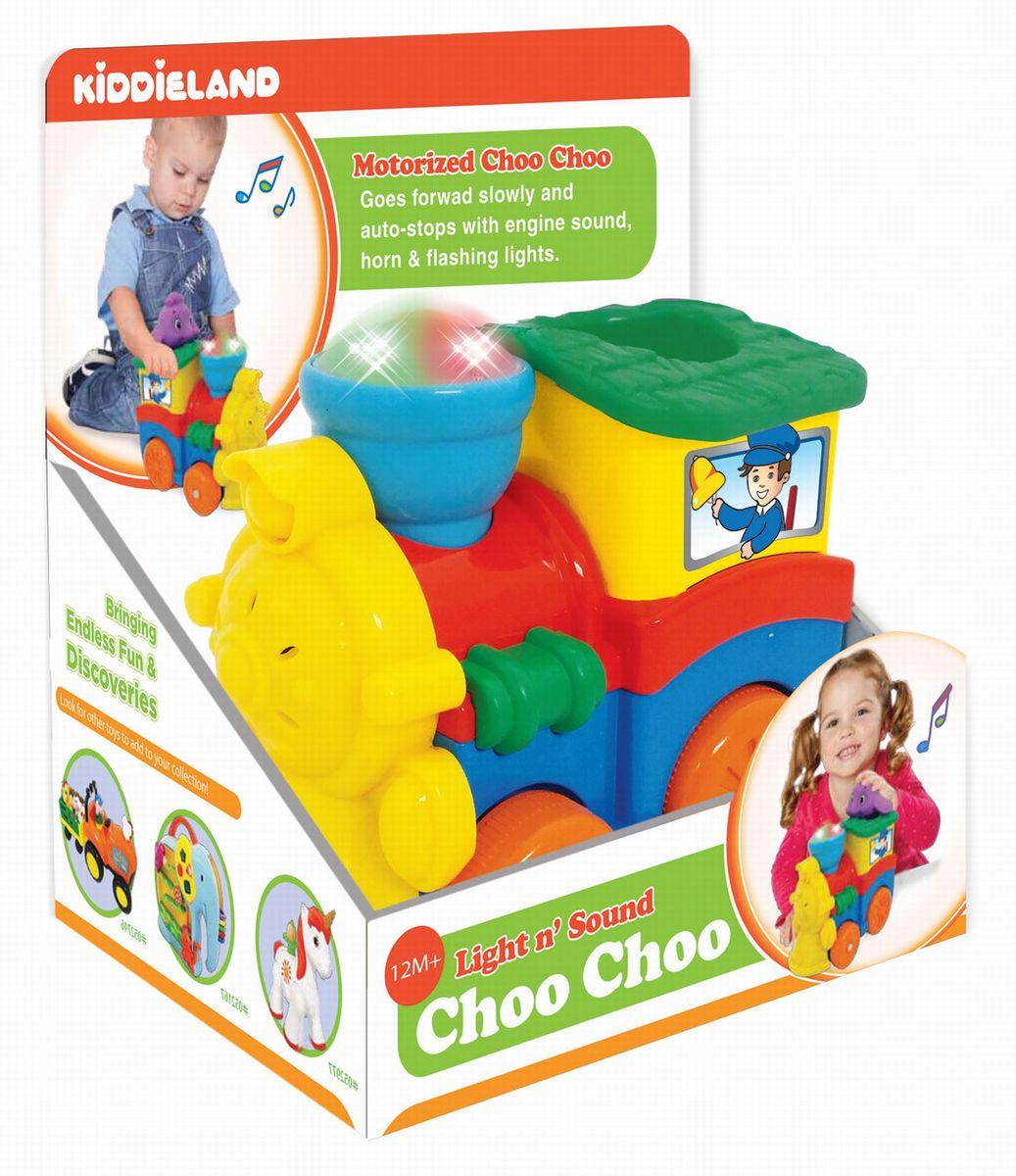 Kiddieland Развивающая игрушка Паровозик со слоненком kiddieland развивающая игрушка пианино с животными минни маус и друзья kiddieland