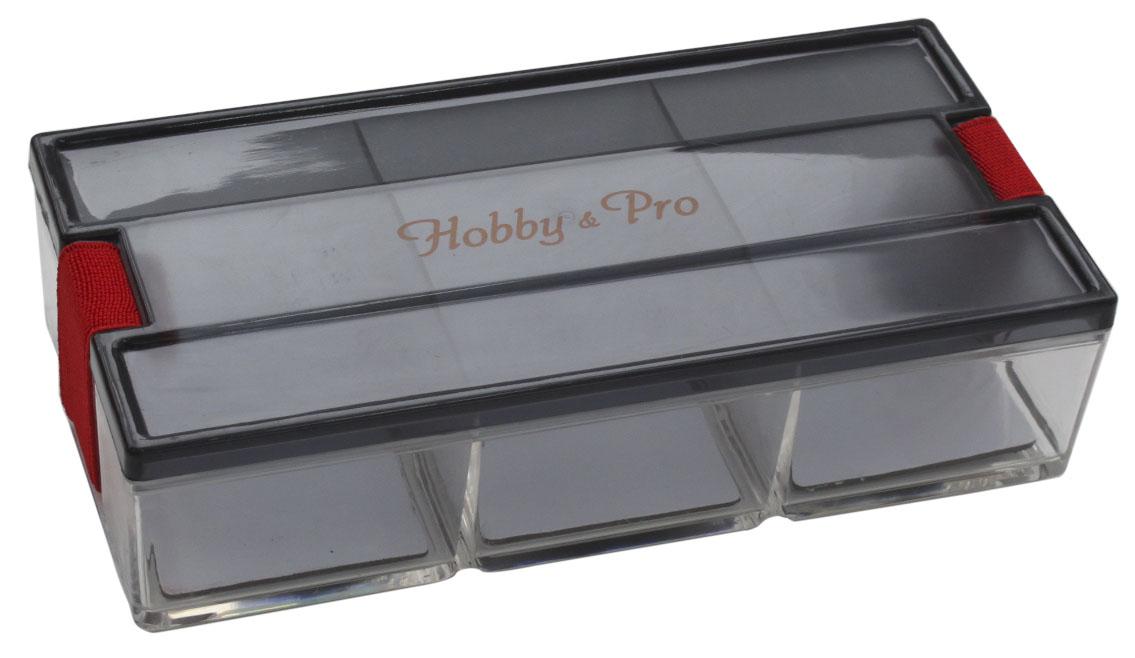 Контейнер для мелочей Hobby & Pro, с фиксирующей резинкой, 18,5 х 9 х 4,5 см7712774Контейнер для мелочей Hobby & Pro изготовлен из прозрачного пластика, что позволяет видеть содержимое. Подходит для хранения швейных принадлежностей, рыболовных снастей, мелких деталей и других бытовых мелочей. Крышка плотно закрывается благодаря фиксирующей резинке. Такой контейнер поможет держать вещи в порядке. Рекомендуем!