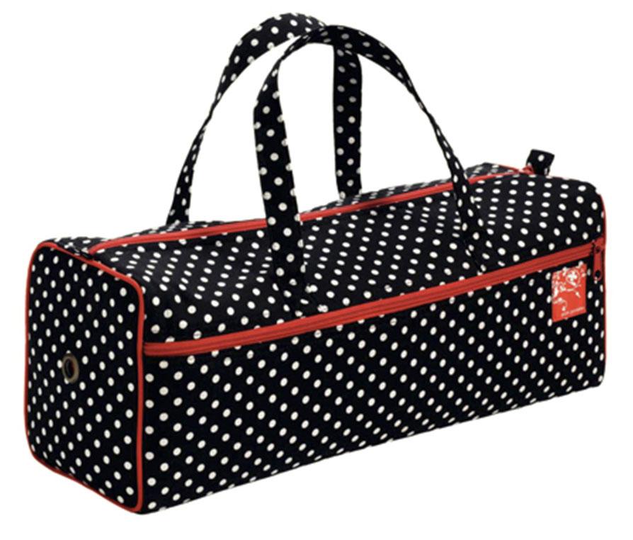 Сумка для рукоделия Prym Полька, цвет: черный, белый, красный кейс для рукоделия prym цвет коричневый