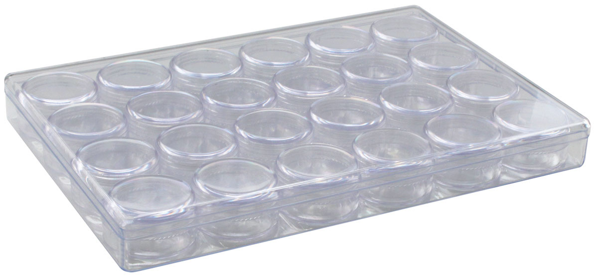 Контейнер для мелочей Hobby & Pro, с 24 баночками, 24,1 х 16,3 х 2,7 см контейнер для мелочей hobby