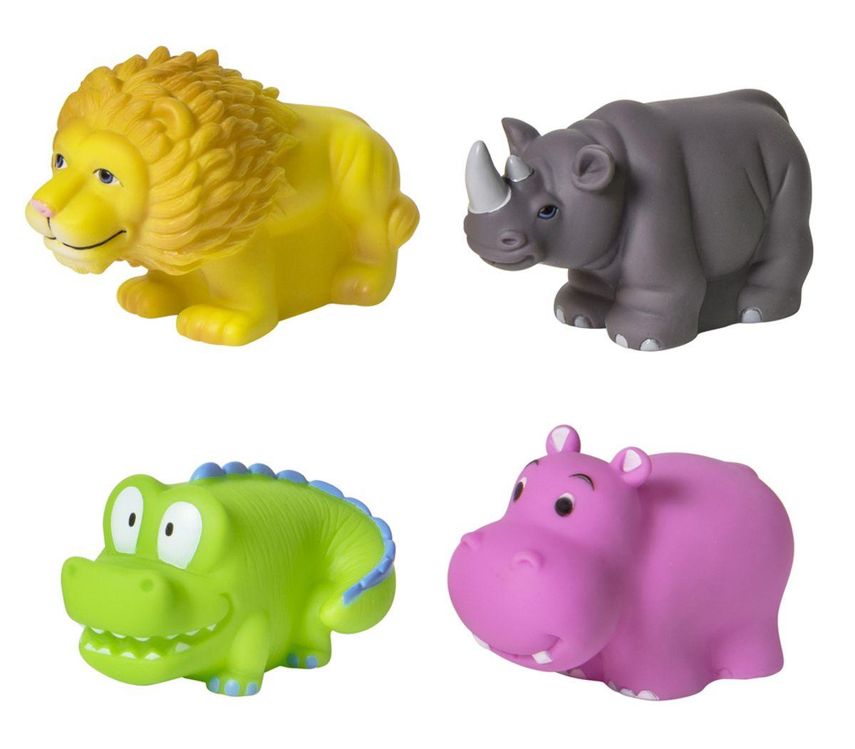 Курносики Набор игрушек для ванной Африка 4 шт курносики набор игрушек брызгалок для ванны баю бай