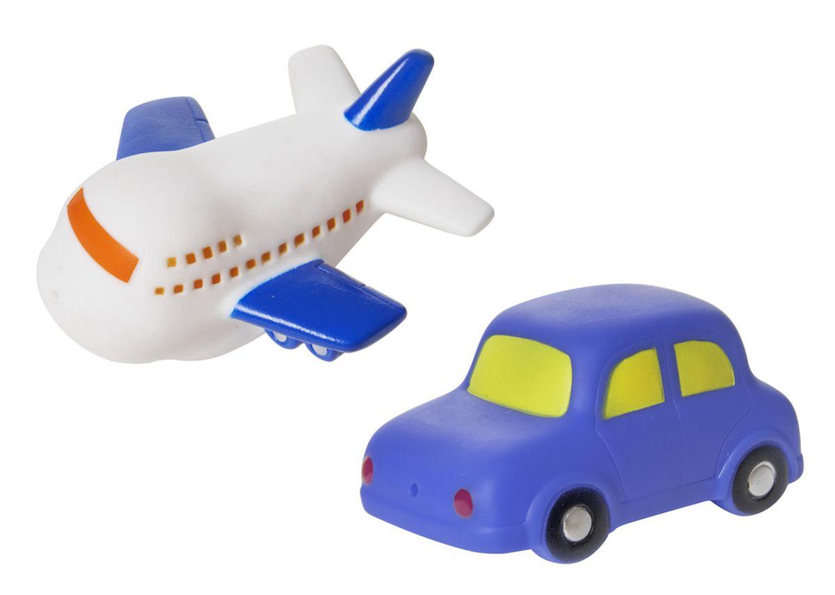 Курносики Набор игрушек для ванной Машинка и самолет курносики набор игрушек для ванной осьминог и акула