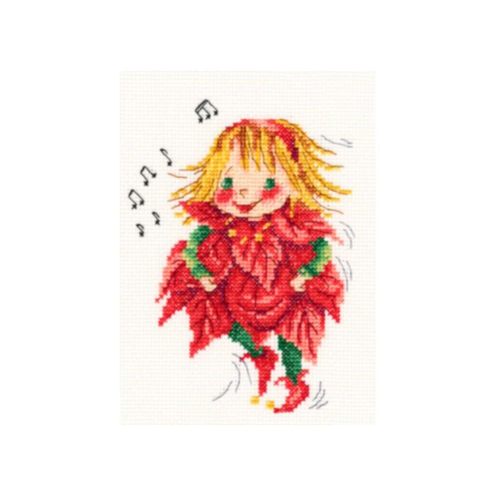 Набор для вышивания крестом РТО Рождественские мелодии, 11 х 14,5 см набор для вышивания крестом rto женский образ 9 х 11 5 см eh304
