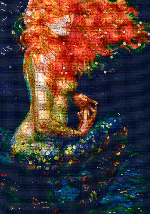 Набор для вышивания крестом РТО Рыжая русалка, 25,5 х 36 см набор для вышивания крестом рто рыжая русалка 25 5 х 36 см