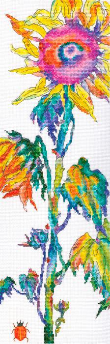 Набор для вышивания крестом РТО Счастье жаркое, солнечно-золотое, 14,5 х 45 см набор для вышивания крестом rto забавный микки 8 х 8 см