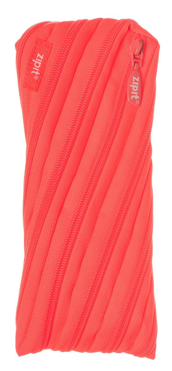 Zipit Пенал Neon Pouch цвет коралловый zipit пенал сумочка colors pouch цвет мульти полоски