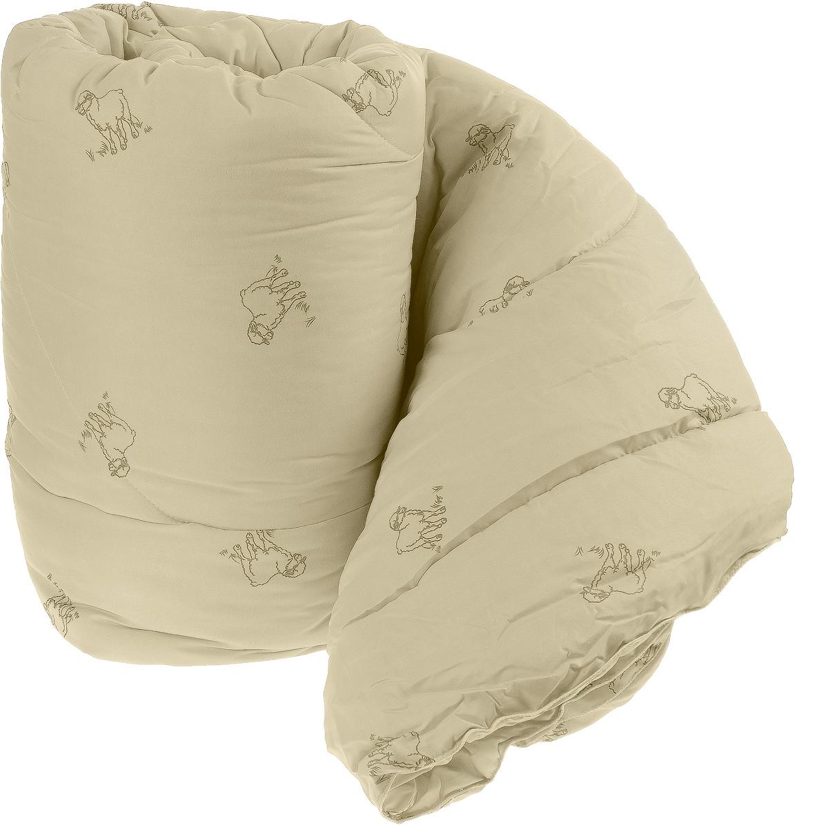 Одеяло теплое Легкие сны Золотое руно, наполнитель: овечья шерсть, цвет: в ассортименте, 200 х 220 см плед daily by t золотое руно 130х170см шерсть 100% в ассортименте