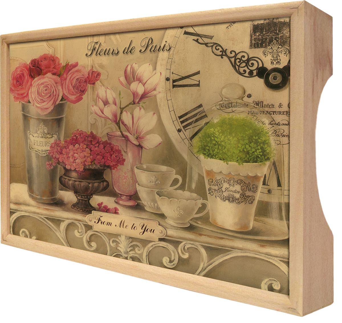 """Поднос Gift'n'Home """"Парижские цветы"""", 25 х 37,5 см"""