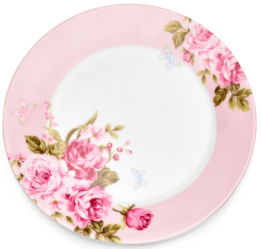 "Тарелка десертная Walmer ""Mirabella"", цвет: розовый, диаметр 19 см"