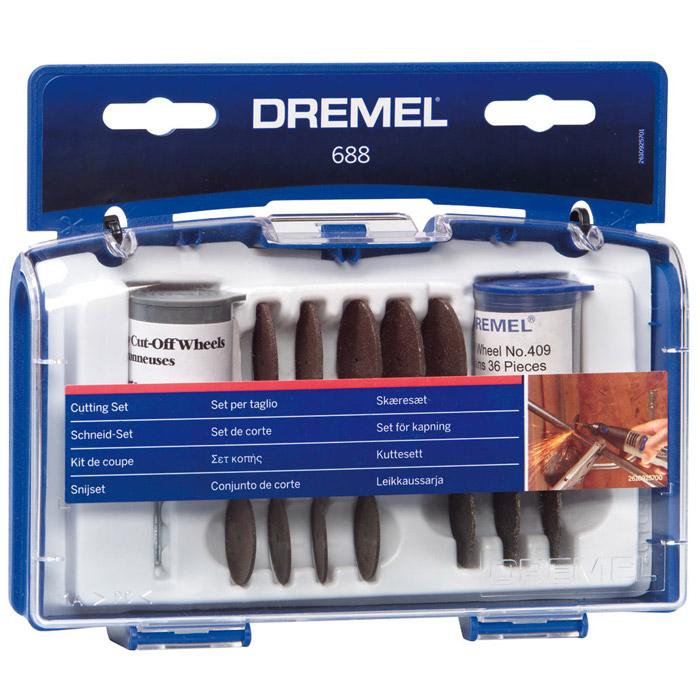 Набор оснастки для резки Dremel 688, 68 предметов держатель dremel 401