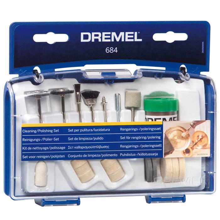 Набор оснастки для чистки Dremel 684, 20 предметов держатель dremel 401