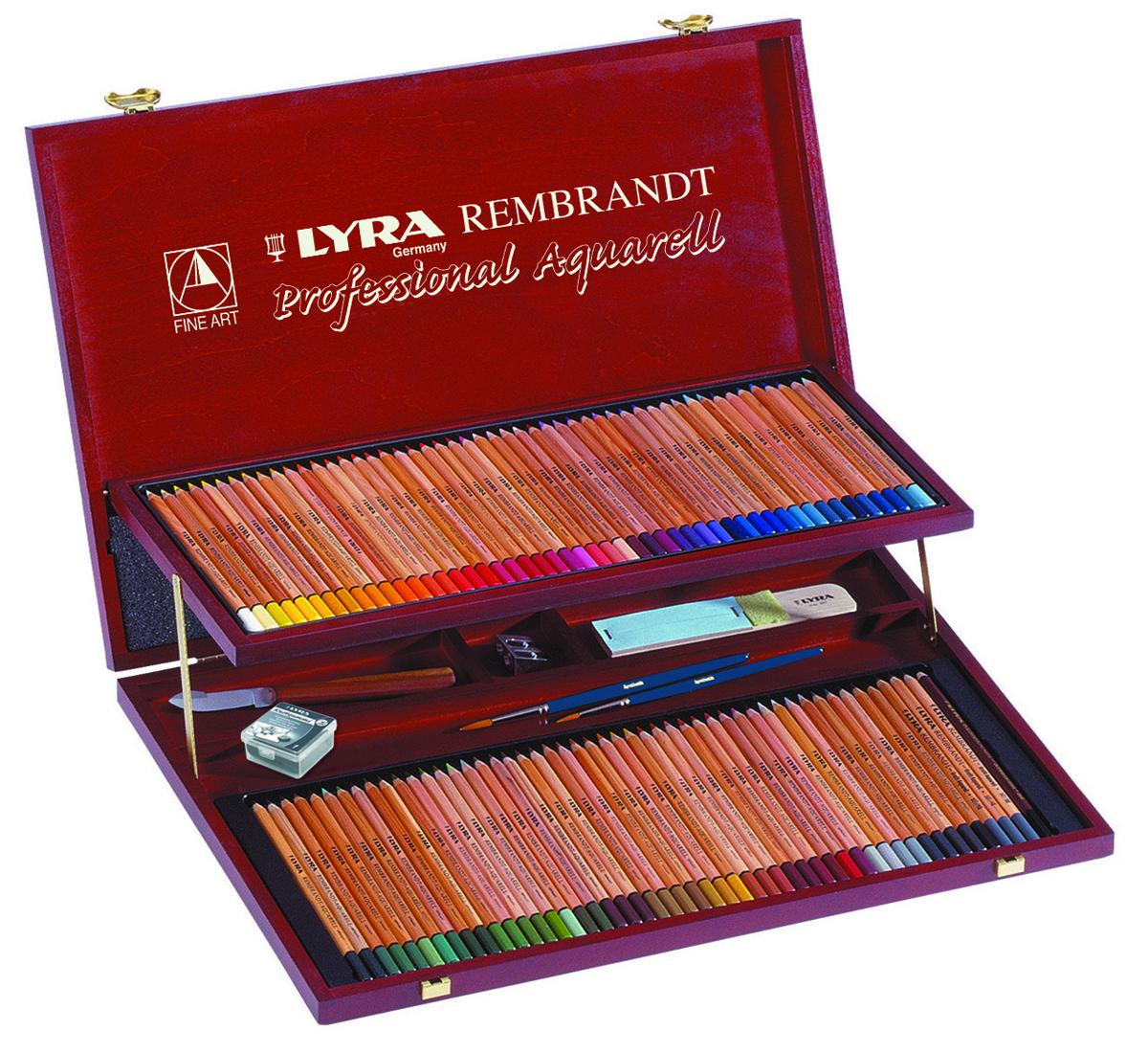 Фото - Lyra Художественные цветные карандаши Rembrandt Aquarell 106 предметов lyra художественный набор graphite set 11 предметов
