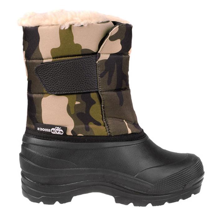 Сапоги зимние EVA Shoes Винсон (-40), цвет: черный, камуфляж. Размер 46