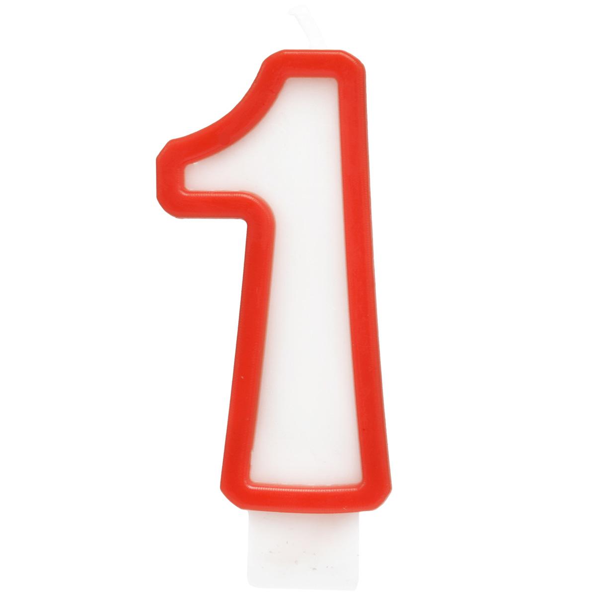 Action! Свеча-цифра для торта 1 год цвет красный свеча маша и медведь цифра 1