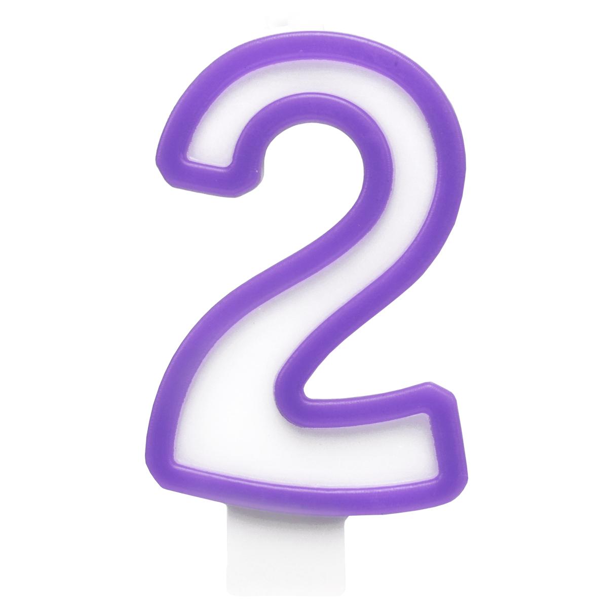 Action! Свеча-цифра для торта 2 года цвет фиолетовый action свеча цифра для торта 4 года цвет салатовый